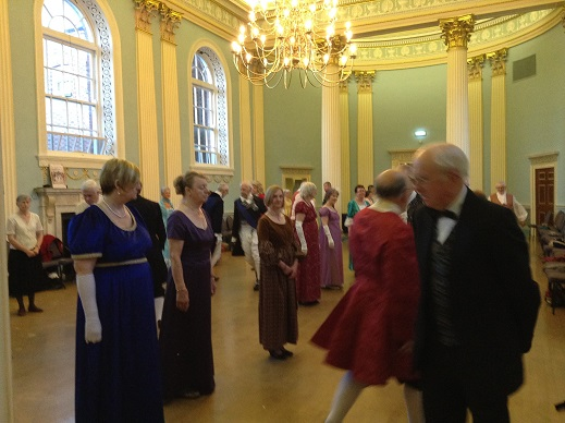 Dancers in the ballroom at Newark Town Hall